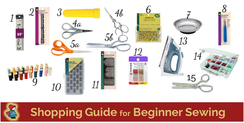 Shopping Guide for Beginner Sewing - Mothers Day gift ideas - birthday gift ideas - Christmas gift ideas