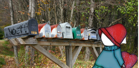 Drop Us a Line - Contact Us – row of country mailboxes ● OldGettinPlace.com ● #oldgettinplace