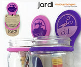 Smartneedle Jardi Mason Jar Hangers Sewing Caddy Organizer - Set of 2 - Pink and Purple