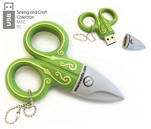 Smartneedle USB Flash Drive - Embroidery Scissors - 4GB - Green - USB4GBGRN