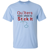 Quilters Know Where to Stick It - T-shirt, Unisex ●  OldGettinPlace.com ● #oldgettinplace