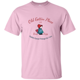 Old Gettin Place with Busy Lizzy - T-shirt, Unisex Pink ●  OldGettinPlace.com ● #oldgettinplace