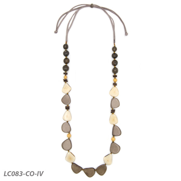 Milagros Necklace - Charcoal Color Combo