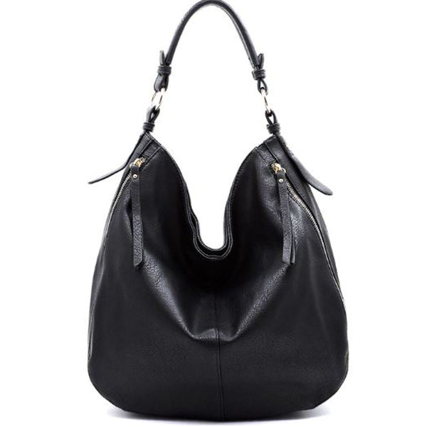 Black - Slouchy Hobo Bag