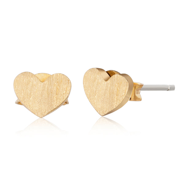 Gold Dainty Heart Stud