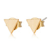Gold Dainty Triangle Stud