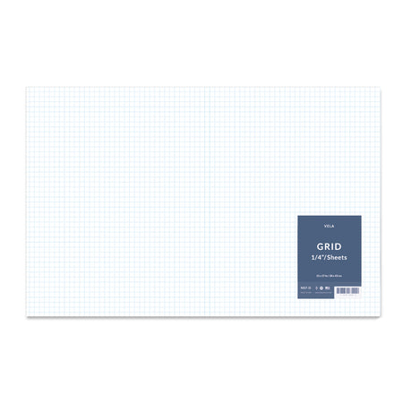 "Vela Graph Sheets, 11 x 17 in, 100 Sheets, 1/4"" Grid"
