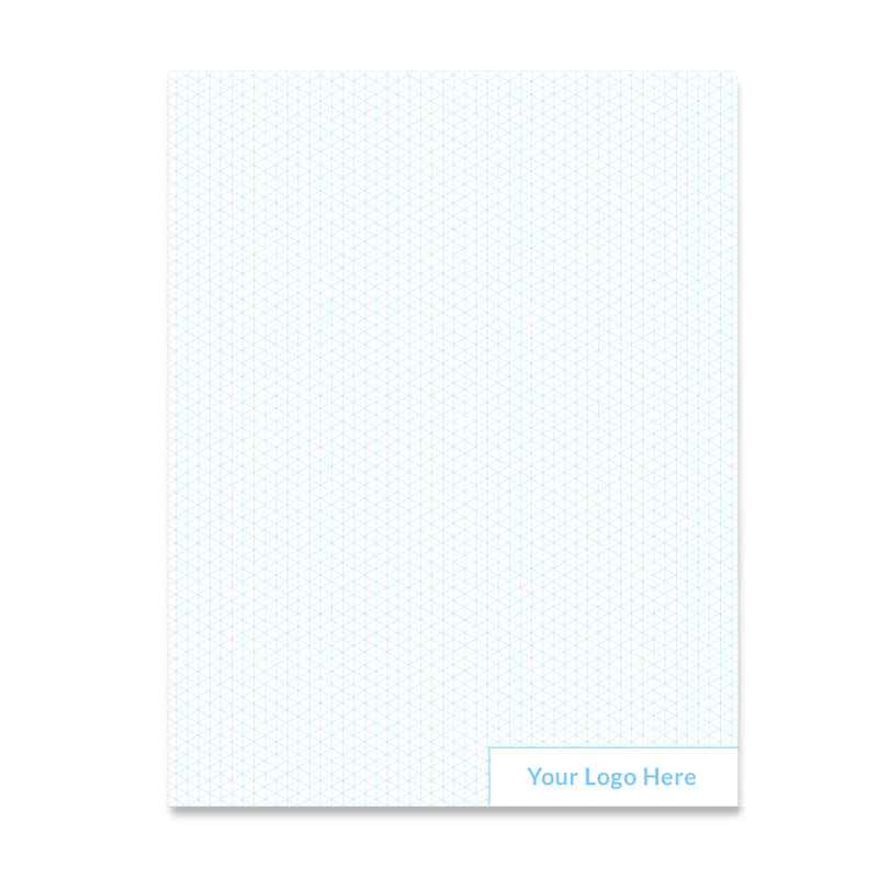 Vela Custom Graph Sheets, 8.5 x 11 in, 50 Sheets