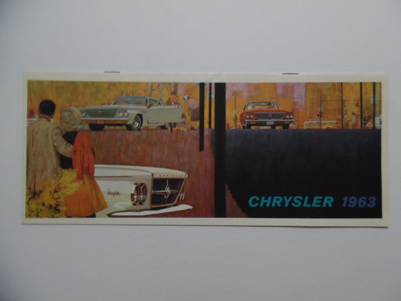 1963 Chrysler New Yorker Newport 300 Car Brochure