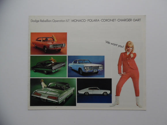 1967 Dodge Monaco Polara Coronet Charger Dart Car Brochure