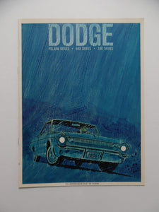 1964 Dodge Polara 440 330 Series Car Brochure