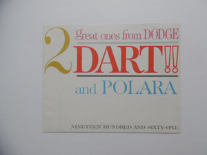 1961 Dodge Dart Polara Car Brochure Vintage Original