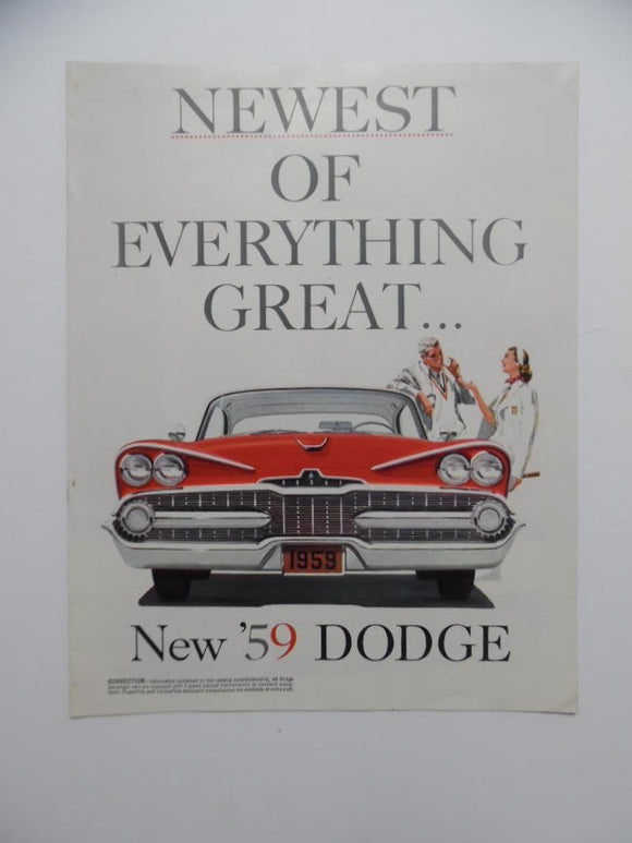1959 Dodge Sales Brochure Lancer Coronet Sierra