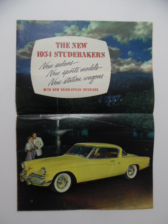 1954 Studebaker Full Line Car Brochure Commander Champion