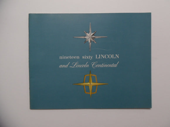 1960 Lincoln Continental Car Brochure