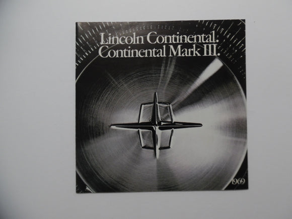 1969 Lincoln Continental Mark III Brochure