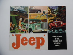 1962 Jeep Full Line Car Brochure Wagoneer Gladiator J-300