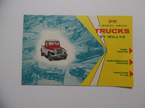 c. 1950s Jeep 4-Wheel Drive Trucks by Willys Brochure