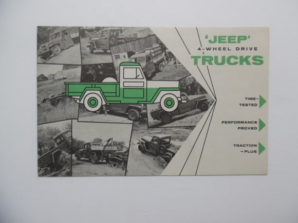 1952 Jeep 4 Wheel Drive Trucks Brochure