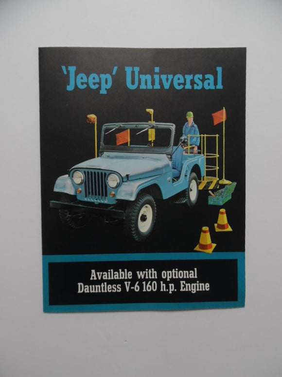 1965 Jeep Universal Car Brochure Dauntless V-6 Vintage Original