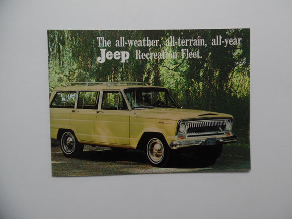 1967 Jeep Recreation Towing Guide Brochure Wagoneer Universal Gladiator