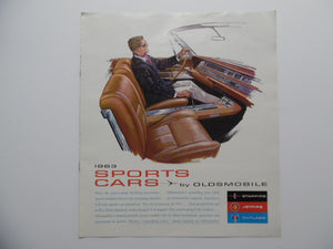 1963 Oldsmobile Sports Cars Brochure Starfire Jetfire Cutlass Vintage Original