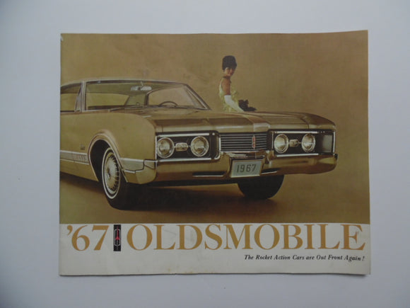 1967 Oldsmobile Full Line Brochure Toronado 98 Delta 88 Cutlass