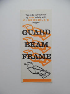 1960 Oldsmobile Guard Beam Frame Car Brochure