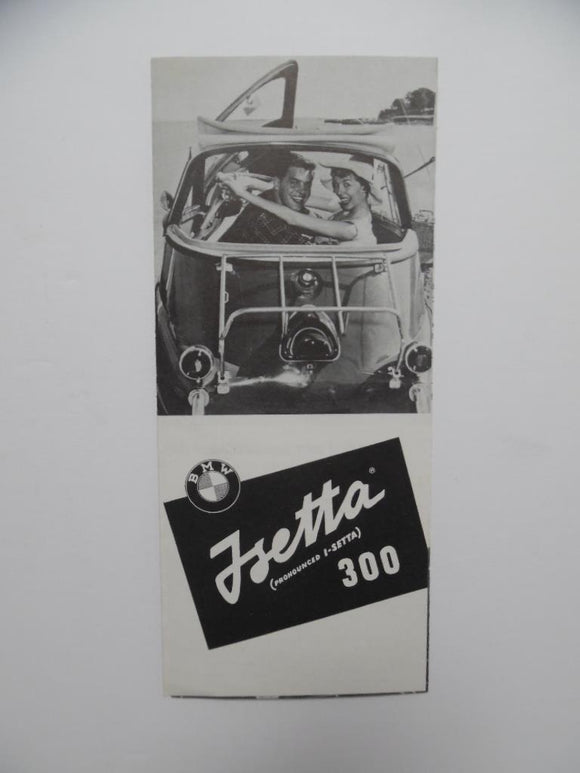 1958 BMW ISetta 300 Car Brochure