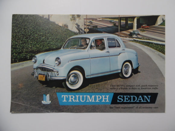 1959 Triumph Sedan Car Brochure