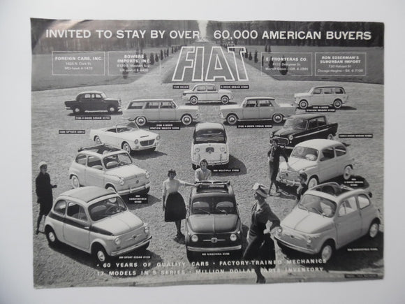 c. 1950s Fiat Full Line Sales Brochure