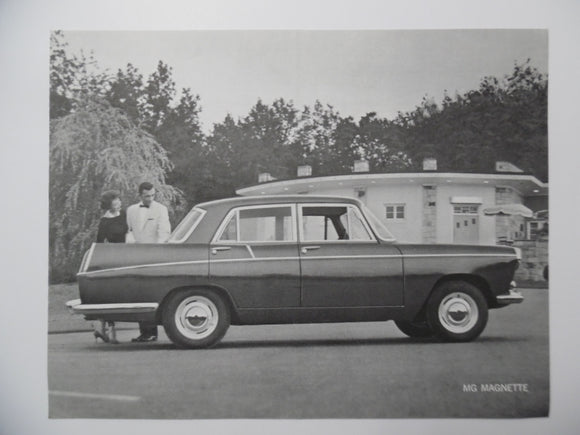 1959 Morris Garages MG Magnette Mark III Car Brochure