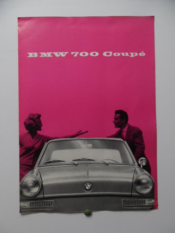 1959 BMW 700 Coupe Car Brochure