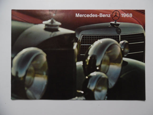 1968 Mercedes-Benz Full Line Brochure 280 250 230 220 Diesel
