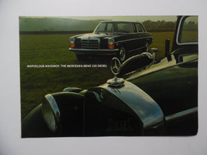 1968 Mercedes-Benz 220 Diesel Car Brochure