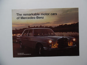 1966 Mercedes-Benz Car Brochure 220 230 250 S 250SE
