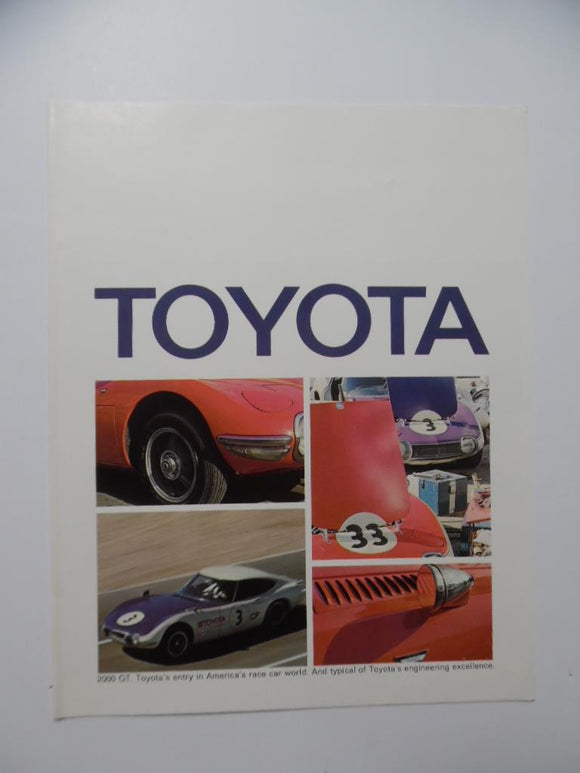 1969 Toyota Car Brochure Crown Land Cruiser Corolla Corona Vintage Original