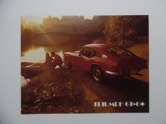 c. 1970s Triumph GT-6+ Car Brochure
