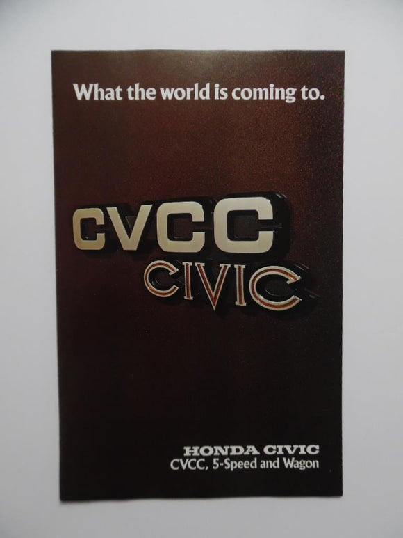 1976 Honda Civic CVCC Car Brochure