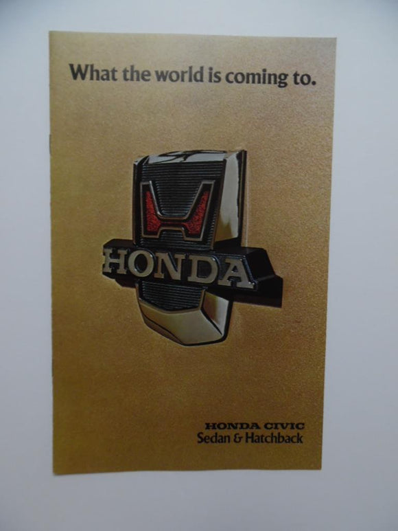 1976 Honda Civic Sedan Car Brochure