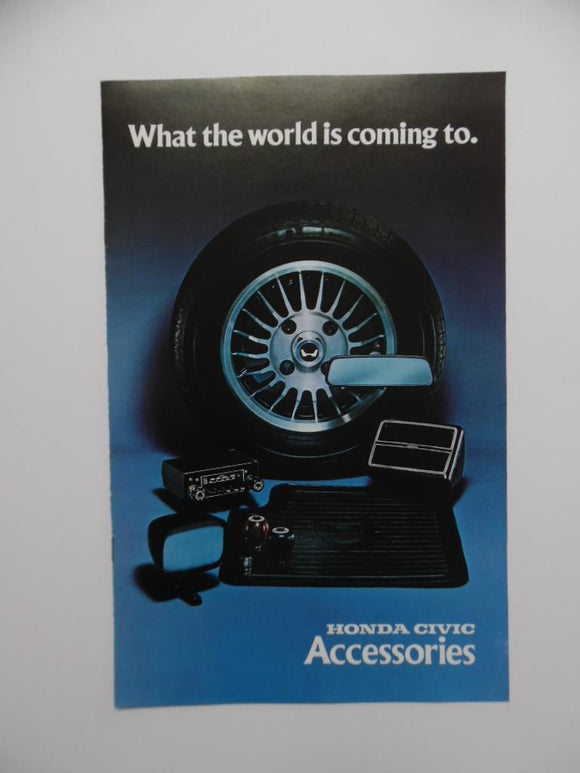 1976 Honda Civic Accessories Brochure