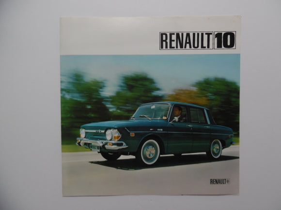 1968 Renault 10 Car Brochure