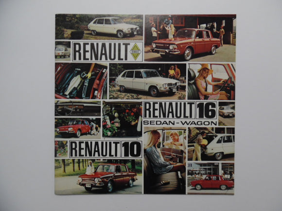 1970 Renault 16 10 Car Brochure