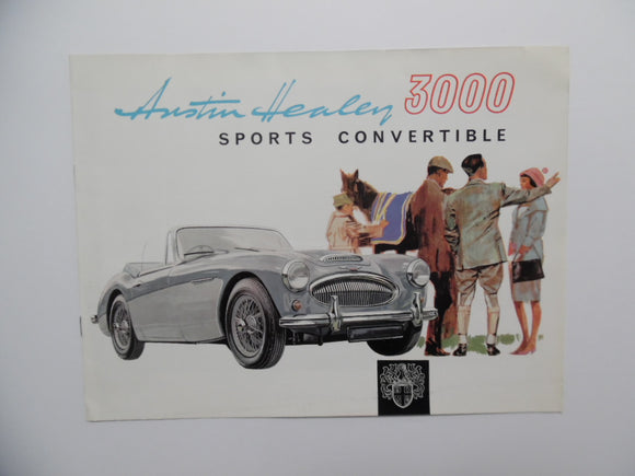 1964 Austin Healey 3000 Sports Convertible Car Brochure