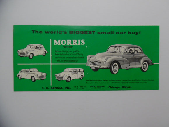 c. 1958 MG Morris Garages 1000 Car Brochure