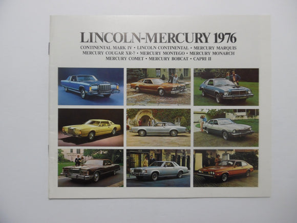 1976 Mercury Full Line Car Brochure Mark IV Lincoln Marquis Cougar XR-7 Original