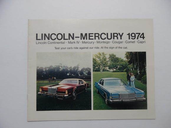 1974 Mercury Full Line Brochure Lincoln Mark IV Montego Cougar Comet Original