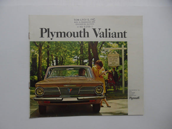 1965 Plymouth Full Line Brochure Belvedere Valiant Barracuda