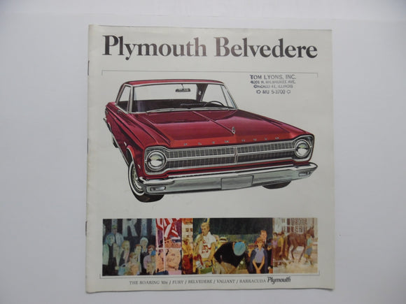 1965 Plymouth Belvedere Full Line Brochure Fury Valint Barracuda