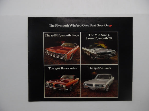 1968 Plymouth Full Line Car Brochure Fury Mid-Size 5 Barracuda Valiant Original